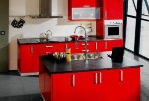 cozinha-vermelha-e-preta
