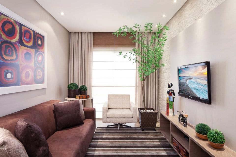 decoracao de interiores para ambientes pequenos : decoracao de interiores para ambientes pequenos:sala-ap-pequeno-tv-parede – Decoração de Casa