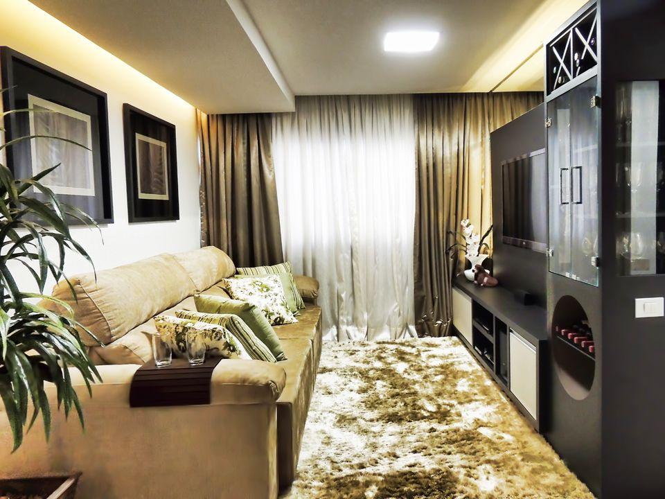 decoracao de sala unica:Sala de Apartamento Pequeno