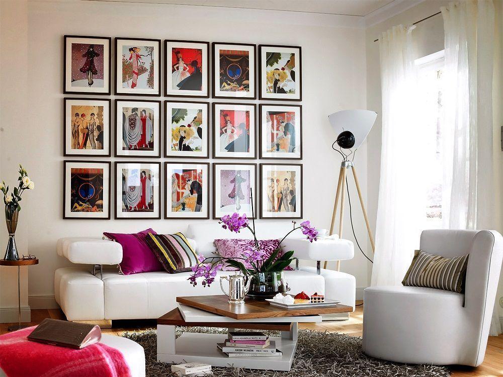 Sala De Tv Com Quadro ~ Salas Decoradas com Quadros Encantadores – Decoração de Casa