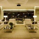 Terraço integrado à sala de estar