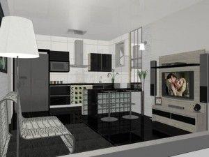 cozinha americana simples 7
