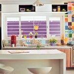 Cozinha com azulejos decorados