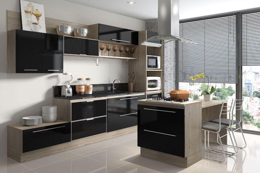 Cozinhas Moduladas Completas, Pequenas e Mais! – Decoração de Casa # Cozinha Pequena Moldulada